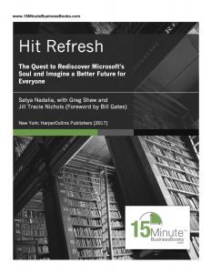 here is the cover sheet for the Hit Refresh synopsis handout