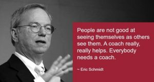 Everybody needs a coach, Schmidt